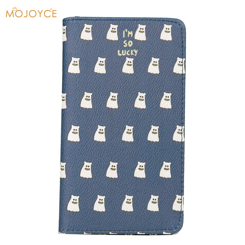 Korean Fashion Women Travel Passport Bag Wallet Cartoon Leather Passport Bags ID Travel Passport Holder Cover Card Passport Case stainless steel credit card holder faux leather case box id business card holders fashion women s travel passport cover holder