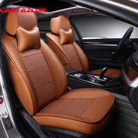 CARTAILOR Cowhide Car Seat Covers Styling for 2018 BMW X1 Seats Cover Leather Automobiles Seat Supports Custom Cushion Protector
