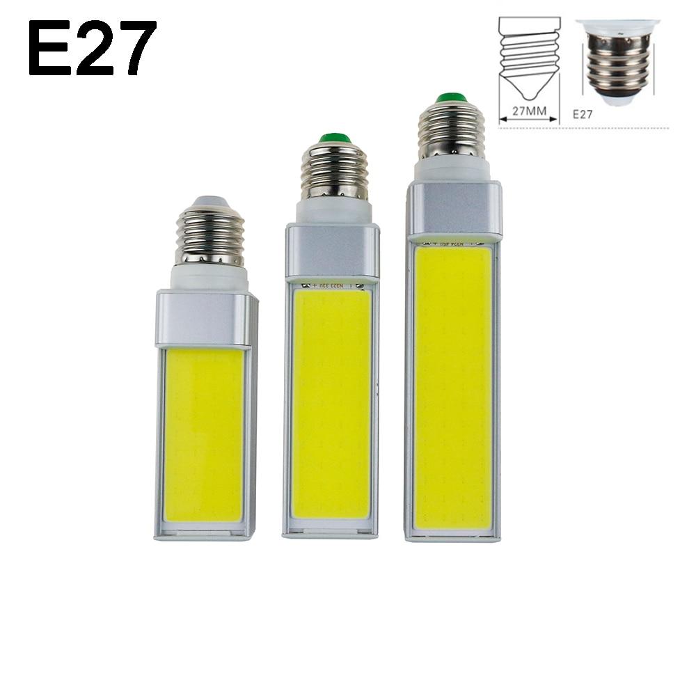 Led-lampen 7 Watt 9 Watt 12 Watt E27 G24 G23 E14 220 V/110 V LED Maisbirne Lampe Licht COB Scheinwerfer 180 Grad AC85-265V Horizontal Stecker licht