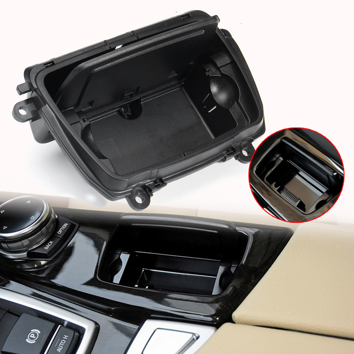 New Automobile Ashtrays Black Plastic Center Console Car Ashtray Assembly Box Fits for BMW 5 Series F10 F11 F18 520 51169206347