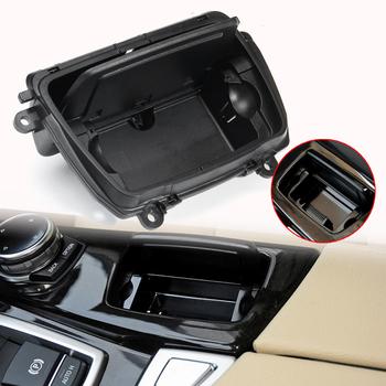 Nowe popielniczki samochodowe czarne plastikowe konsola środkowa popielniczka samochodowa skrzynia montażowa pasuje do BMW serii 5 F10 F11 F18 520 51169206347 tanie i dobre opinie CN (pochodzenie)