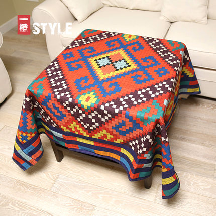 Tablecloth Rectangular Round Linen Covers Floral Decoration Doily Blanket Drap Pad Plaid Chair Mesa Cloth Table QQO638