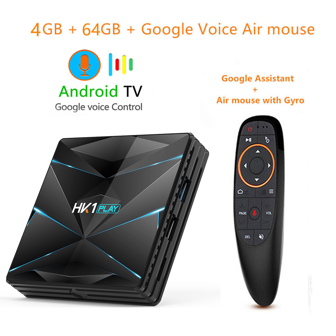 Android 9 0 Smart TV BOX Google Assistant S905X2 4G 64G TV receiver 4K Very fast