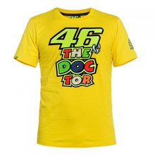2016 Motorcycle casual T-shirt Valentino Rossi VR46 46 the doctor Moto GP Monza Cotton T-shirt YELLOW