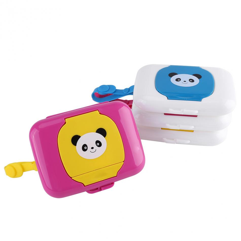 Wet Tissue Box Baby Infant Outdoor Travel Stroller Wet Wipes Box Tissue Case Pop-up Design Home Tissue Holder