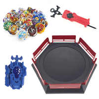 Juguetes de ráfaga de Beyblade con lanzador de manillar Starter y Arena Bayblade Metal Fusion God Spinning Tops by Blade Blades juguetes nuevos