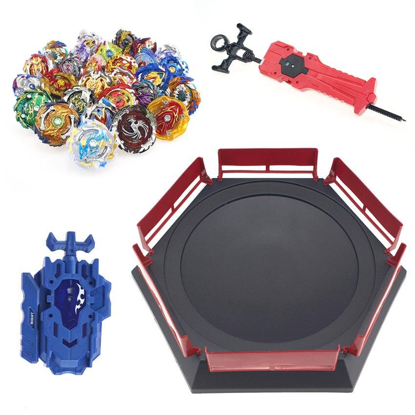 Lançador de Beyblade Estourar Brinquedos Com Guidão de Arranque e Arena de Bayblade Deus Spinning Tops Brinquedos Bey Lâmina Lâminas de Fusão de Metal Novo