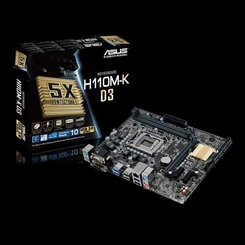 Full new ASUS Micro ATX DDR3 1800 LGA 1151 Motherboards H110M-K D3 цены