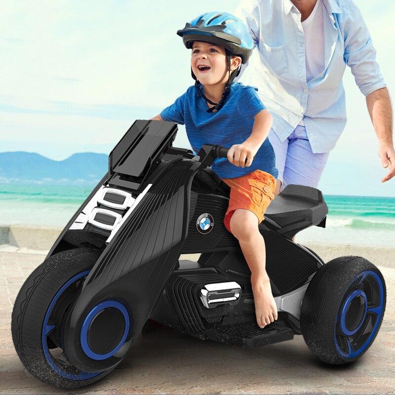 Enfants moto électrique tricycle enfants jouets 2-7 ans garçon et fille bébé batterie double entraînement voiture électrique peut asseoir les gens