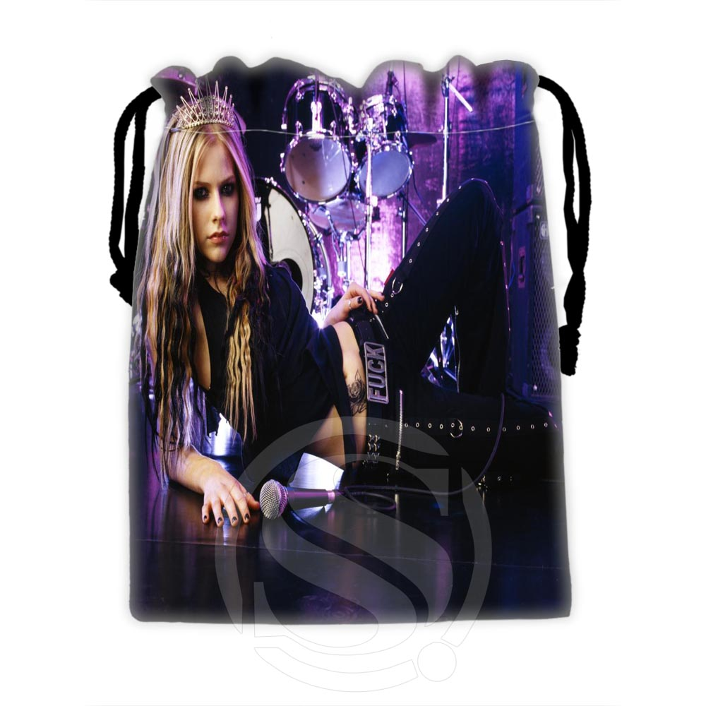 H-P640 Custom Avril #10 Drawstring Bags For Mobile Phone Tablet PC Packaging Gift Bags18X22cm SQ00806#H0640