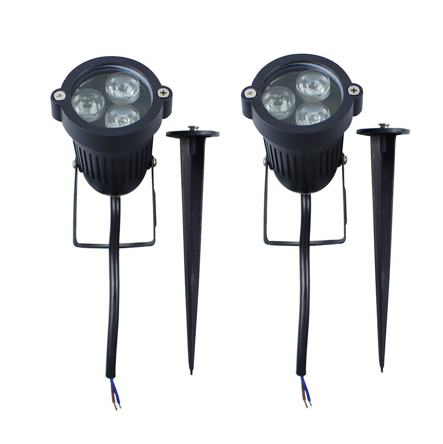 9W Outdoor LED Garden Spike Lights 12V IP65Waterproof Green Yellow Red Blue  White 3*3W