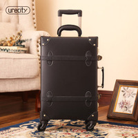 2018 new luggage rolling spinner travel trolley luggage wheels genuine leather TSA lock travel carry on 2024 free shipping