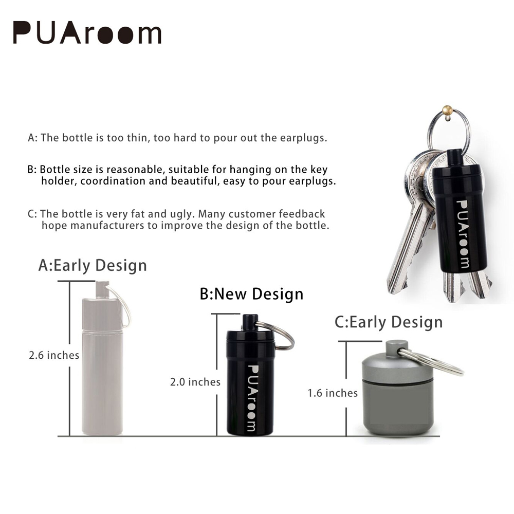 Puaroom 45dB шумоподавления силиконовые спальный беруши с 2 пара одинакового размера многоразовые защиты органов слуха