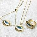 Auge schmuck sets blue eye anhänger halskette auge charme für frauen juwelen zubehör teufel auge juwelen für frauen 5625
