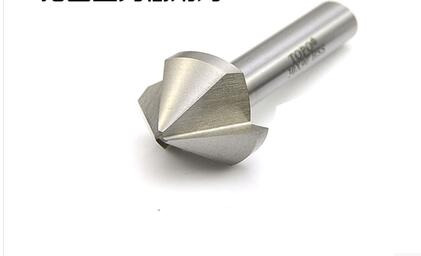 1PC 45*52 mm Three blades 90 degree chamfer drill countersink drill drilling and chamfering device aluminium metal plate taper 1pc 8mm shank high quality 45 degree chamfer