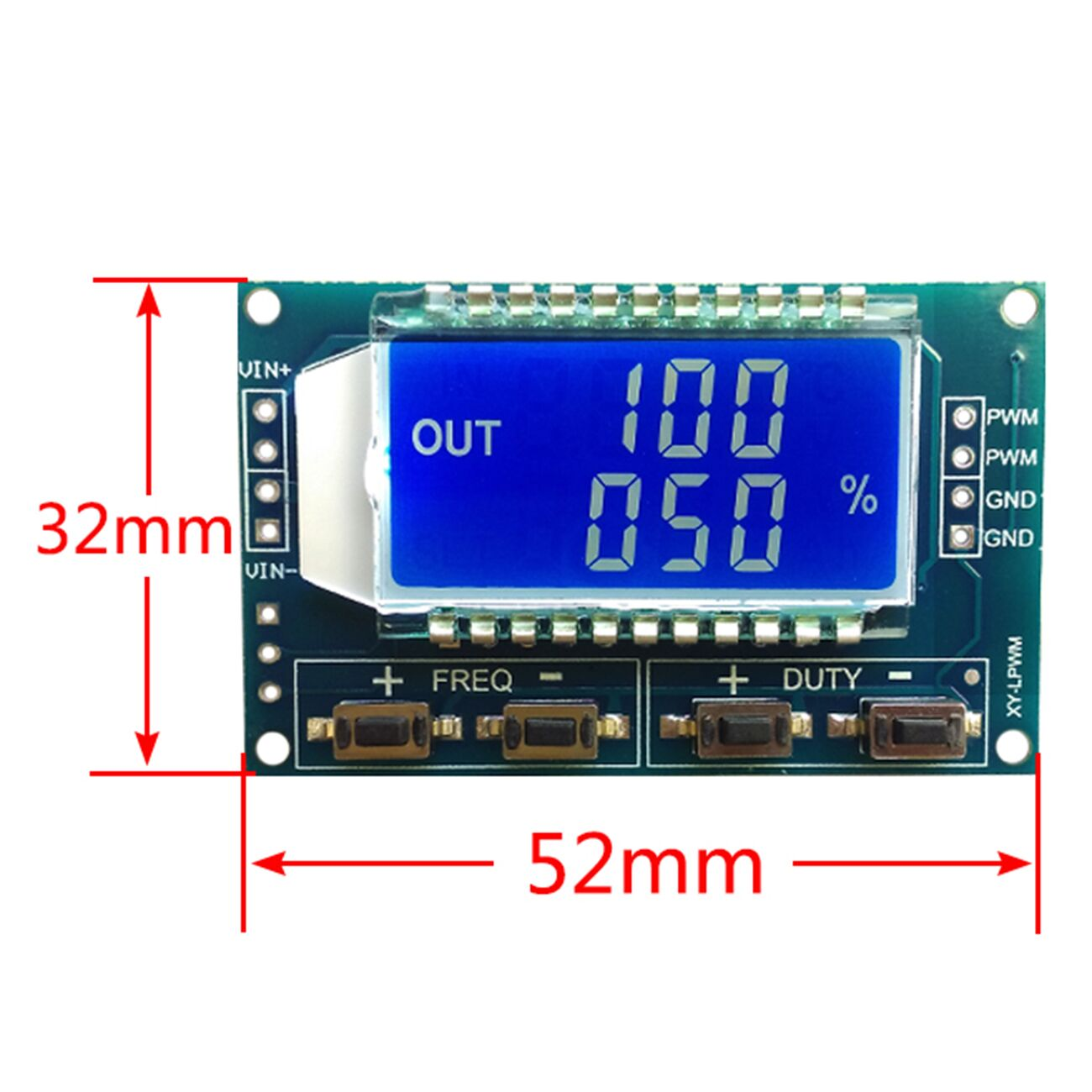 New Signal Generator Pwm Pulse Frequency Duty Cycle Adjustable Adjustabledutycycle Squarewave Oscillator Circuit Diagram Module Lcd Display 1hz 150khz 33v 30v Board In Integrated Circuits From