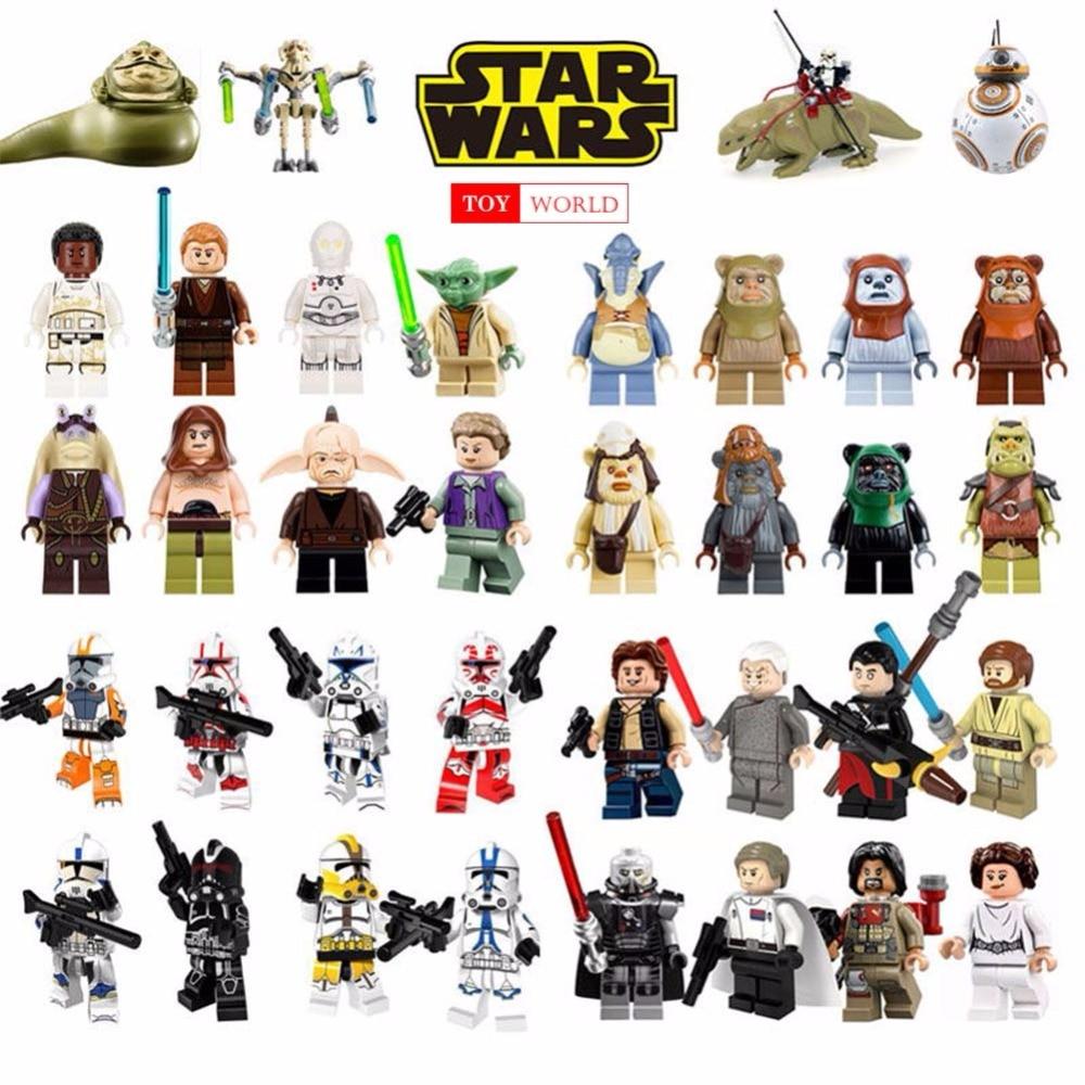 Single Sale legoing Star Wars Building Block Han Solo Anakin Darth Vader Yoda Jar Jar Toys Compatible legoINGl starwars figures