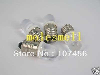Free shipping 20pcs white E10 12V Led Bulb Light Lamp for LIONEL 1447