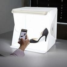 """24 см/9 """"мини складной lightbox фотостудия Софтбоксы светодиодный свет софтбокс Камера фото Задний план коробка Освещение палатка комплект"""