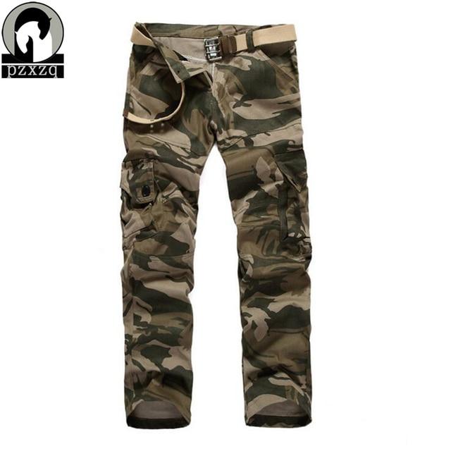 2016 Nueva Moda de invierno Marca Los Hombres Pantalones Hombres Pantalones de trabajo pantalones Pantalones Militares Pantalones de Camuflaje Militar de Lápiz