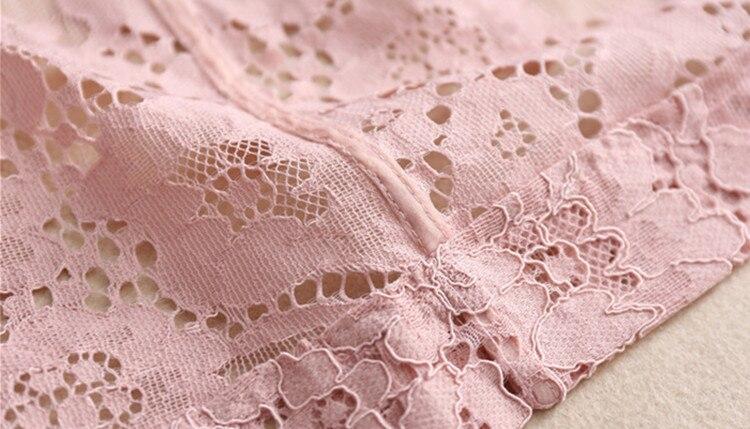Femelle Dentelle Moyen Nouveau Survêtement Automne 2018 Haute Longueur Qualité Rose Mode Trench Mince Élégant De Femmes Designer Manteau f8x6qOETw