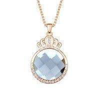 1 Piece Thời Trang Phụ Nữ Vàng Hợp Kim Áo Len Chain Link Necklace Vương Miện Trượt Pendant Fine Jewelry