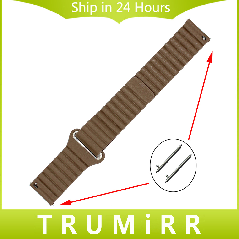 18mm 20mm 22mm Genuine Leather Watch Band Magnetic Buckle Strap for Timex Men Women Quick Release Belt Bracelet Black Brown Red laopijiang men and women leather leather strap watch for car master 18 20 22mm
