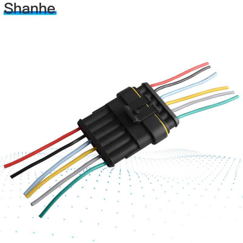 Auto Kawat Konektor 1 2 3 4 5 6 Cara 1P 2P 3P 4P 5P auto Konektor Pria & Wanita Tahan Air Listrik Konektor dengan Kabel