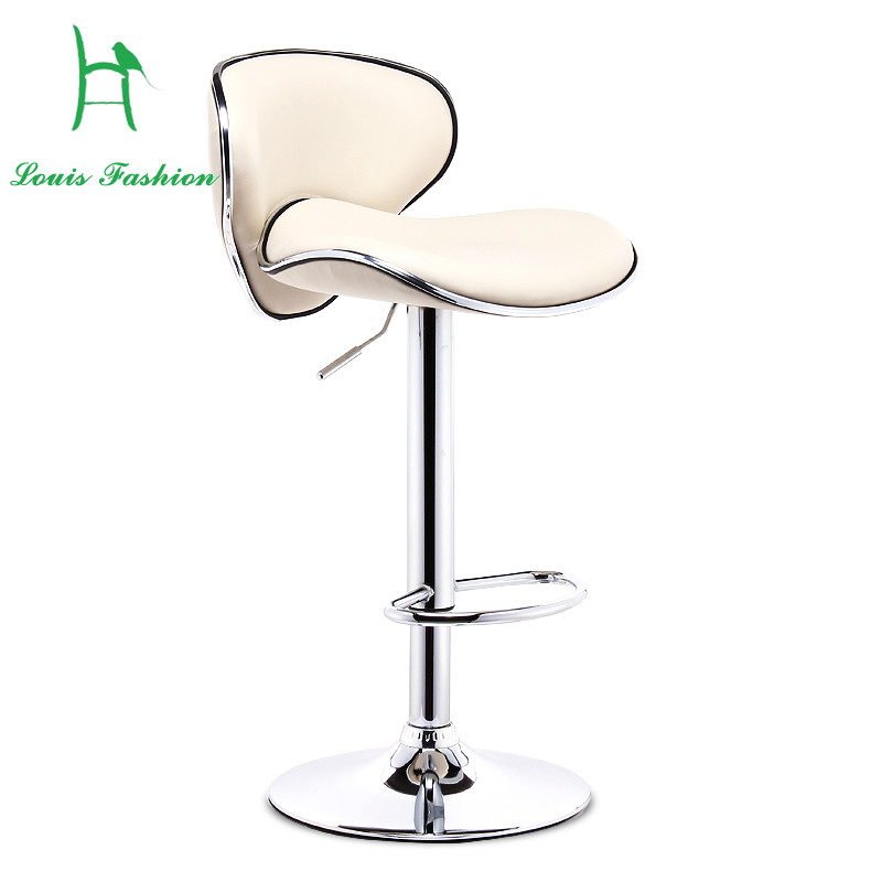 High Bar Stool Chairs Decorating Chair For Baby Shower Louis Fashion Lift European Modern Minimalist Shop Backrest