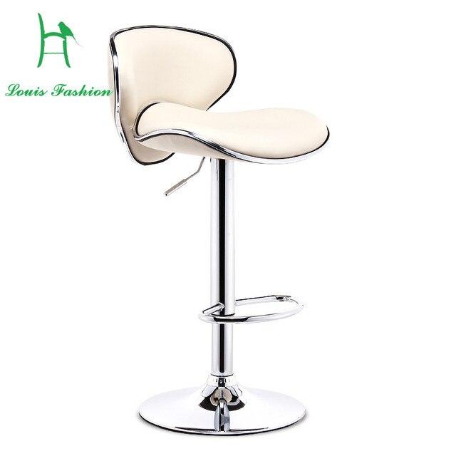 Louis Fashion Bar Chair Lift Bar Stool European Modern Minimalist Shop Stool  Chair High Chair Backrest