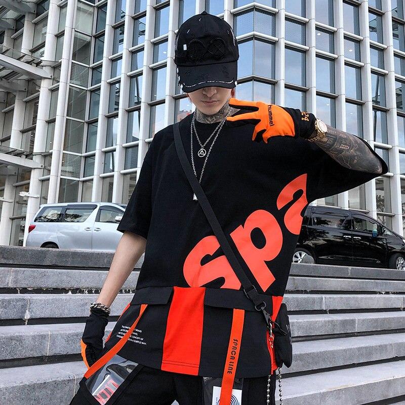 New 2019 summer oversized printing tshirt men Fashion Creative loose streetwear hip hop t shirt harajuku Men T shirts cotton