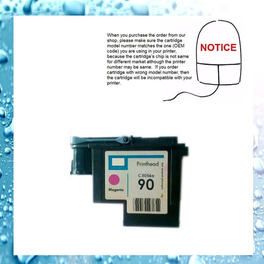 все цены на 1pcs Magenta C5056A printhead for HP90 HP 90 designjet 4000 / designjet 4500 Remanufactured printer head for HP90 онлайн