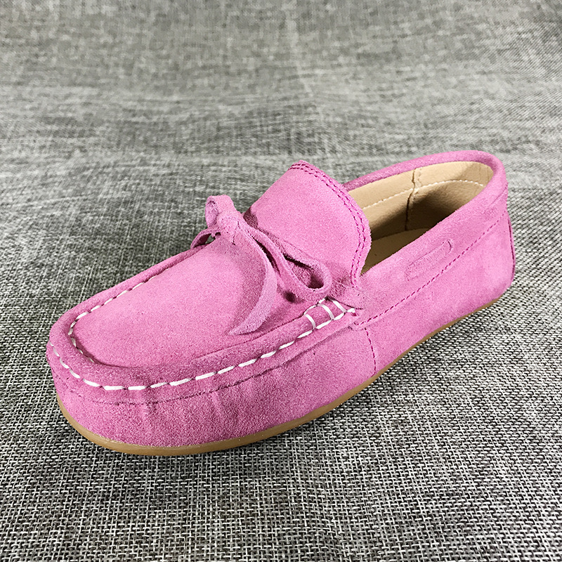 Child moccasins new fashion pink students cow tendons soft bottom dance shoes kids leather shoes black school shoes for boys