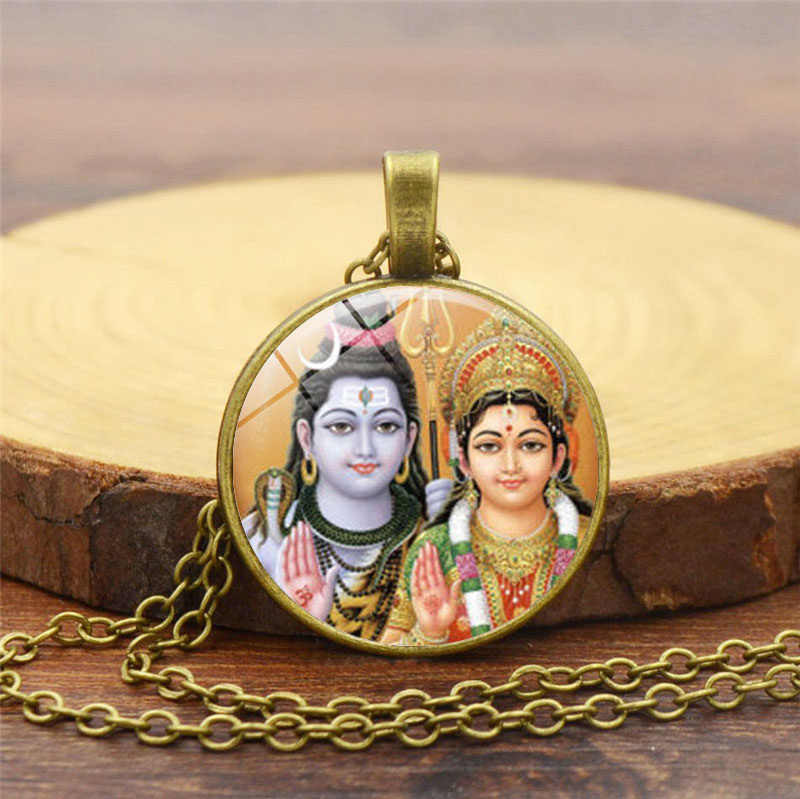 主シヴァネックレスヒンドゥー神仏ネックレス手作り仏教ジュエリーチャーム宗教ペンダントヒンドゥー教ネックレスジュエリー