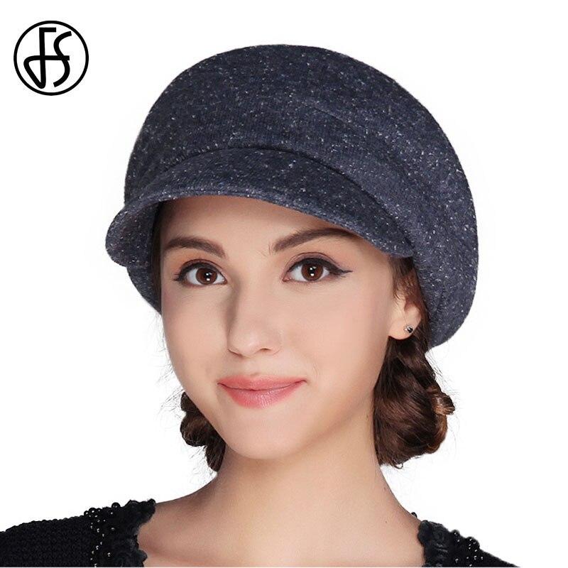 FS Women French Wool Felt Beret Hat Flat Cap Autumn Winter Female Vintage Caps Fedora Chapeu Feminino Boina Mujer Invierno 1