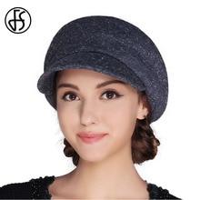Женский фетровый берет FS, винтажная фетровая шляпа на плоской подошве, для осени и зимы, 2019