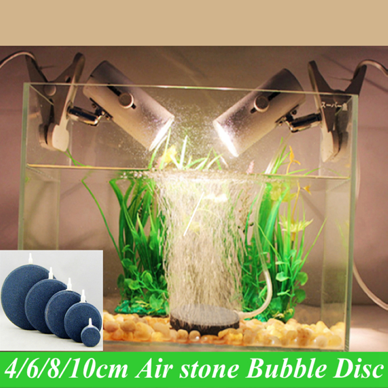 Aquarium sintered air stone bubble disc oxygen air pump for Fish tank vs pond