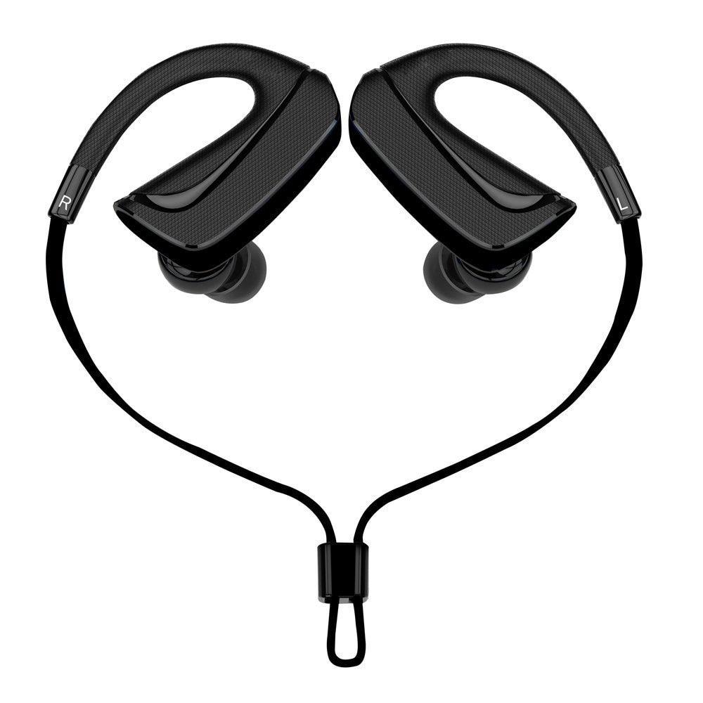 Sport Bluetooth-hoofdtelefoon Draadloze ergonomische transpiratie Ear-koptelefoon Headset Oordopjes met ruisonderdrukkende microfoon Handsfree