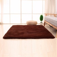 2 Colors Coral Velvet Floor Mat Bedroom Carpets Soft Bedside Living Room Footcloth Solid Color Water