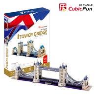 Candice guo! Delicate versie 3D puzzel speelgoed Cubicfun 3d-bouwplaat puzzel spel beroemde London Tower Bridge