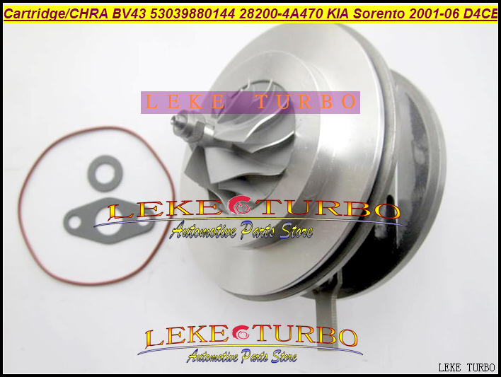 Turbo Cartridge CHRA Core BV43 53039700144 53039880122 53039880144 28200-4A470 282004A470 For KIA Sorento 2001-06 D4CB 2.5L CRDi kkk turbo bv43 53039880144 53039880122 chra turbine 28200 4a470 turbocharger core cartridge for kia sorento 2 5 crdi d4cb 170 hp