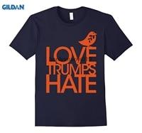 GILDAN Love Trumps Hate Anti Donald Trump T Shirt