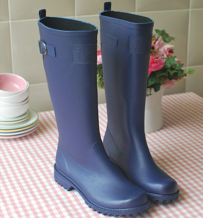 European Brand Designer Natural Rubber Rain Boots For -7915