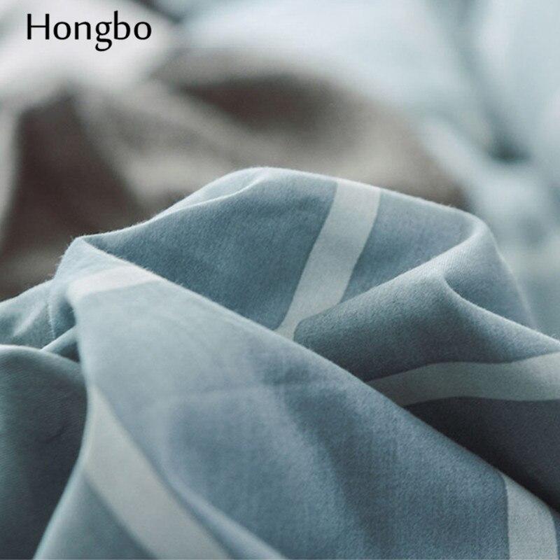 Hongbo зимний теплый клетчатый пододеяльник, Стёганое одеяло, Хрустальная фланелевая геометрическая решетка, печатный хлопок, пододеяльник, д... - 5
