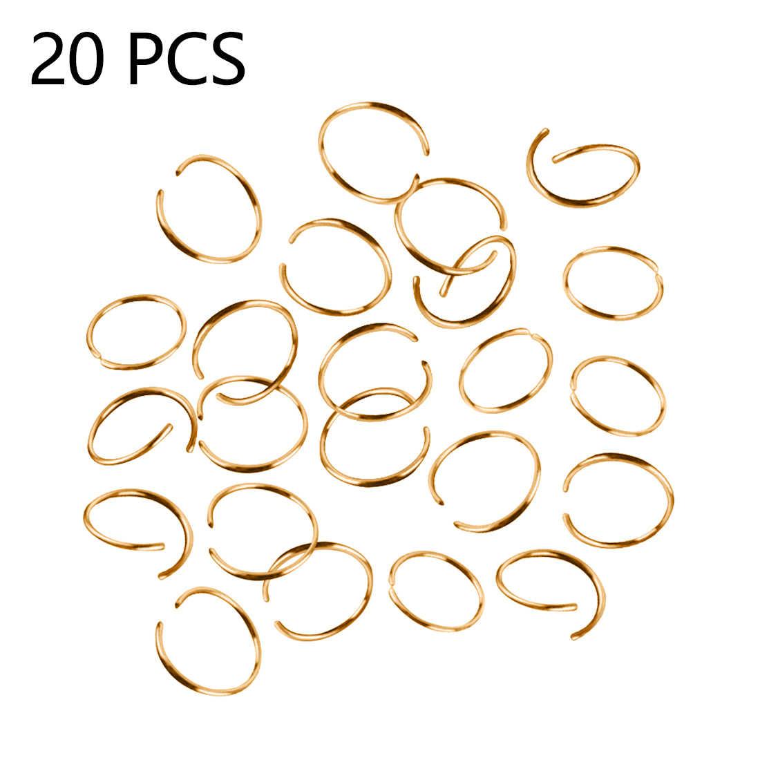 Горячая Красота оплетка дреды шарик манжеты клип оплетка обод кольцо около 10 мм Внутреннее отверстие 20 шт Золотой Серебряный парик Ювелирное кольцо