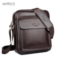 2016 Fashion POLO Men Messenger Bag Genuine Leather Bag Designer Famous Brand High Quality Shoulder Bag