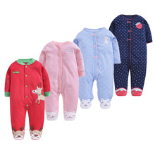 цена на Baby Clothes Baby Boy Girls Footed Romper Baby Rompers 100% Cotton Sleep & Play Clothes Baby Pajamas Newborn Clothing