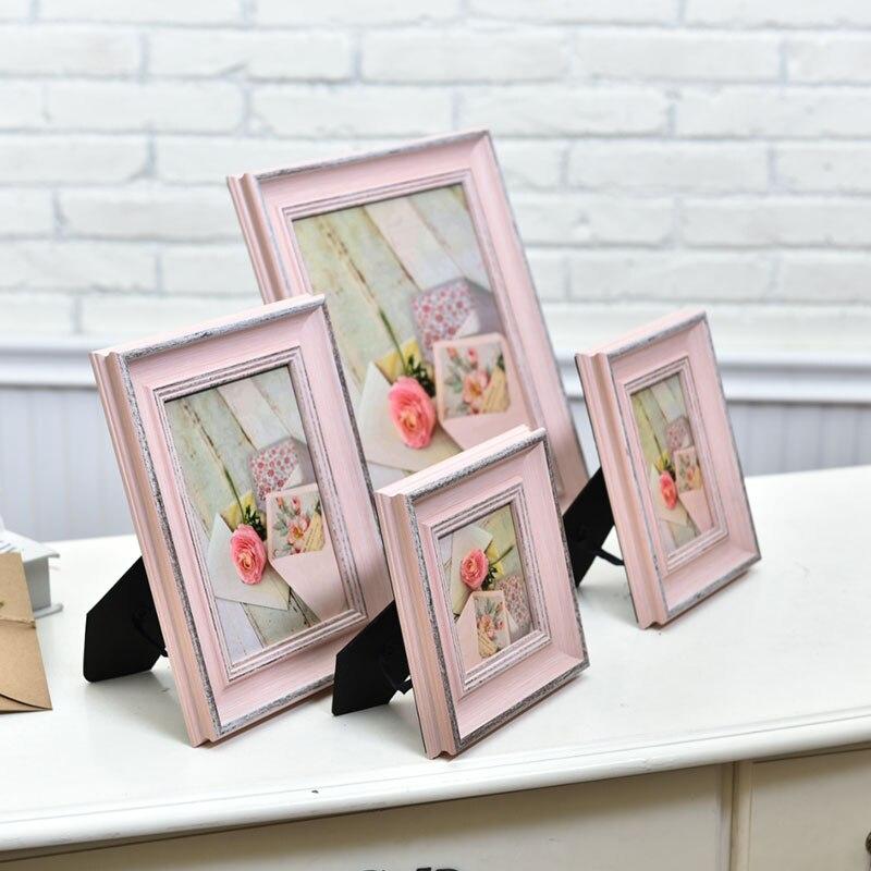 Moderne Rosa Holz Foto Rahmen Hochzeit Baby Familie Retro Foto Foto ...