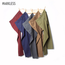 Markless 2017 Casual Pants Men Summer Long Multi-color Optional Brand Clothing High Quality Elastic Male Trousers