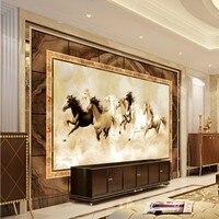 Photo Wallpaper 3D Stereo Wallpaper European Marble House Street TV Wall Living Room Wallpaper Custom Studio